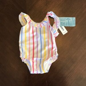 NWT 0-3 month girls swimsuit one piece ruffle